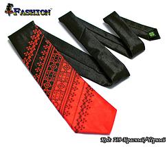 Мужской вышитый галстук стихии Огонь, фото 2
