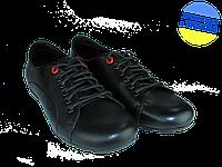 Мужские классические кожаные туфли  mida 31110ч черные   весенние , фото 1