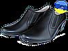 Женские туфли кожаные  mida 21171ч чёрные   весенние