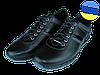 Мужские классические кожаные туфли  mida 11755ч.сер черные   весенние