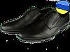 Мужские классические кожаные туфли  mida 11541ч черные   весенние