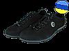 Мужские классические кожаные туфли  mida 11971нуб.ч черные   весенние
