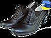 Женские туфли кожаные  mida 21181ч чёрные   весенние
