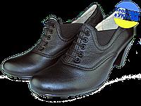 Женские туфли кожаные  mida 21181ч чёрные   весенние , фото 1