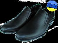 Мужские туфли кожаные классические mida 11250ч черные   весенние