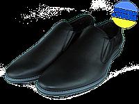 Мужские классические кожаные туфли  mida 11621ч черные   весенние , фото 1