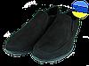 Мужские туфли нубук mida 11821н.ч черные   весенние