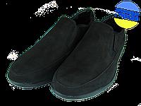Мужские туфли нубук mida 11821н.ч черные   весенние, фото 1