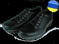 Мужские туфли кожаные  mida 11525ч черные   весенние