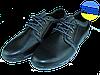 Мужские классические кожаные туфли  mida 11465ч черные   весенние