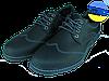 Мужские классические кожаные туфли  mida 11730крз.ч черные   весенние