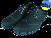 Мужские классические кожаные туфли  mida 11730крз.ч черные   весенние , фото 1