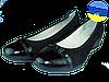 Женские туфли кожаные  mida 21317н.ч.лак чёрные   весенние