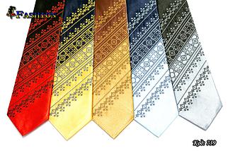 Мужской вышитый галстук стихии Огонь, фото 3