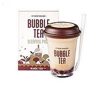 Ночная маска Bubble Tea Sleeping Pack Black Tea от Etude House