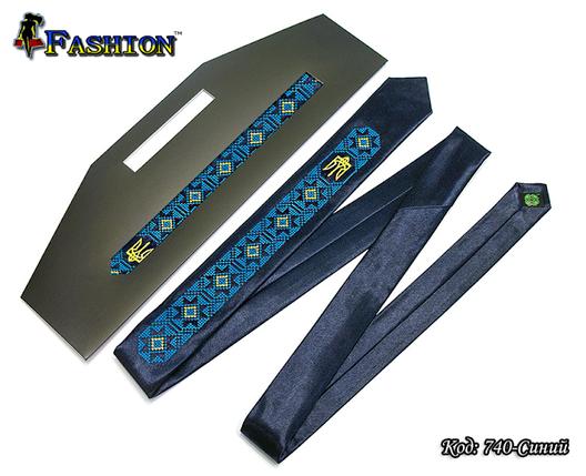 Мужской узкий вышитый галстук Украинец, фото 2