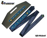 Мужской узкий вышитый галстук Украинец