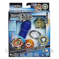 Beyblade Burst Светящийся Бейблейд с пусковым устройством Rip Fire Roktavor R2 Hasbro