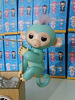 Игрушка для детей обезьянка Fingerlings Monkey Зоя на АККУМУЛЯТОРАХ (бирюзовая)