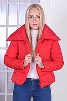 """Женская короткая куртка-пуховик на молнии и кнопках """"Канада"""", фото 1"""