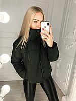 Женская короткая куртка на резинке по низу, фото 1