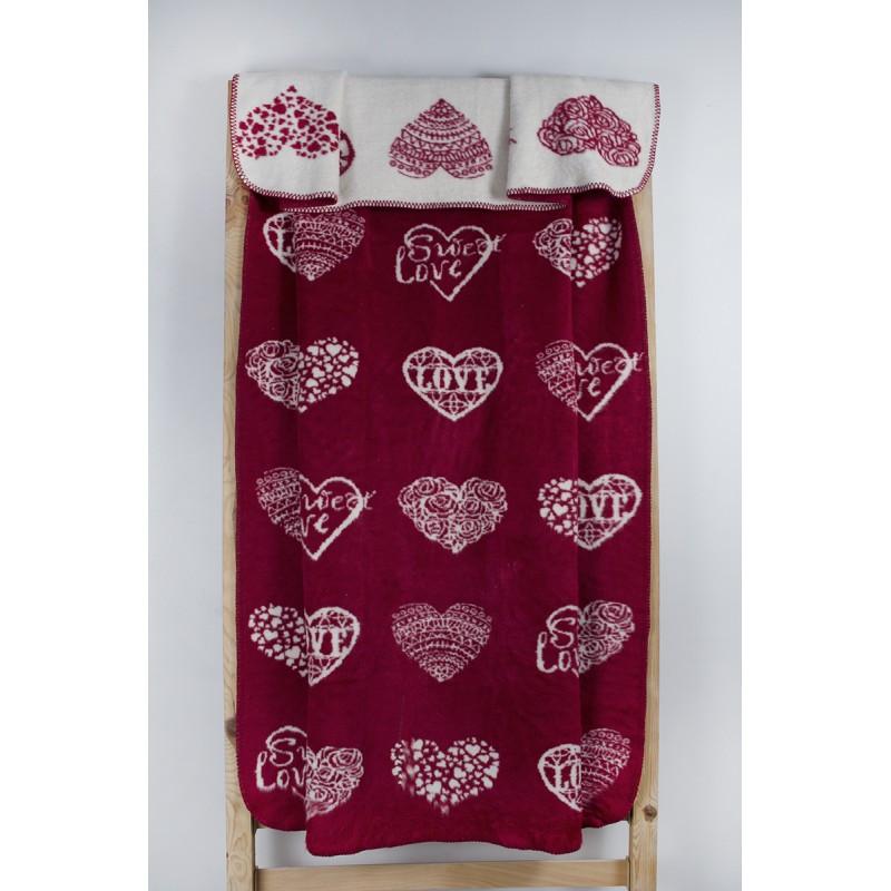 Плед Lotus Mono - Sweet Love красный 135*175 (2000022195898)