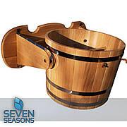 Ведро-водопад для бани из дуба Seven Seasons™, 15 литров