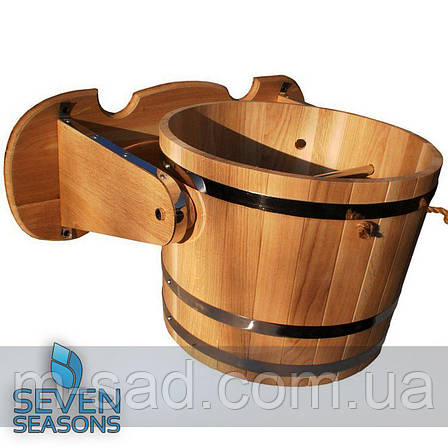 Ведро-водопад для бани из дуба Seven Seasons™, 15 литров, фото 2