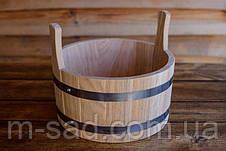 Шайка дубовая для бани и сауны Seven Seasons™, 7 литров, фото 3