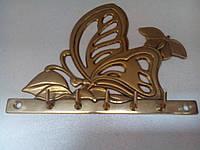 Вешалка Бабочка - бронза