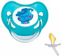 Пустышка латексная анатомическая 0-6 мес., голубой котик, Canpol babies (22/603-3)