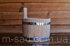 Ковш дубовый для бани 3-5 литров, фото 2