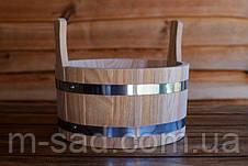 Шайка дубовая для бани и сауны 10 литров, фото 3