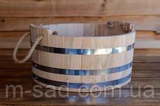 Шайка дубовая для бани и сауны 15 литров, фото 3