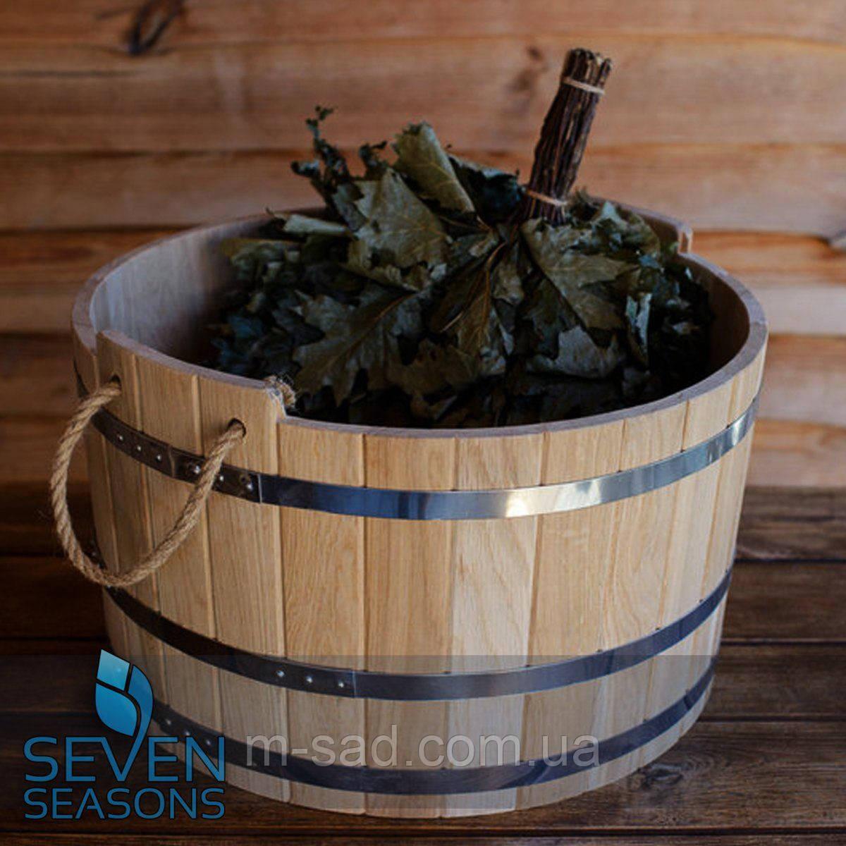 Шайка дубовая для бани и сауны 30 литров