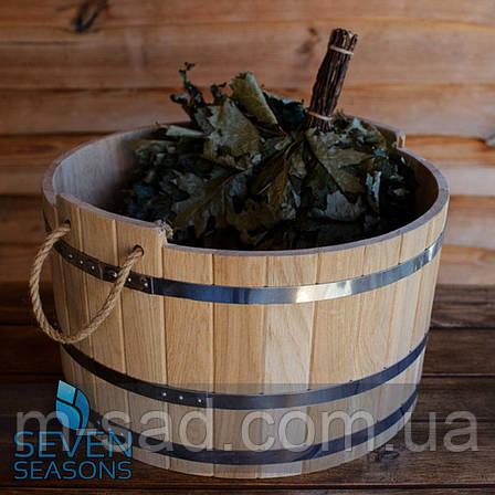 Шайка дубовая для бани и сауны 30 литров, фото 2
