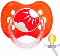 Пустышка латексная круглая Природа (красная), 0-6 мес., Canpol babies (22/606-1)
