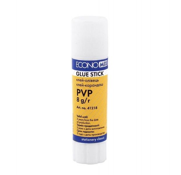 Клей-карандаш Economix, основа PVP, 8г