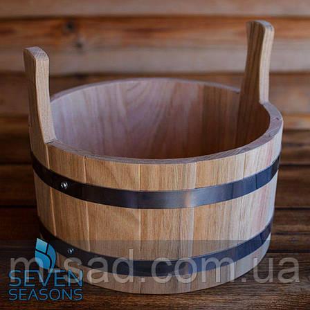 Шайка дубовая для бани и сауны 5 литров, фото 2