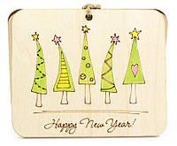 """Новогодняя открытка """"Веселые елки"""""""