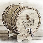 Бочка дубовая (жбан) для напитков Seven Seasons™, 10 литров латунь