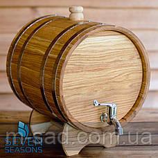 Бочка дубовая (жбан) для напитков Seven Seasons™, 10 литров латунь, фото 2