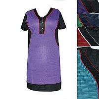 Женская котоновая ночная рубашка (БАТАЛ) M47 оптом со склада на 7км.
