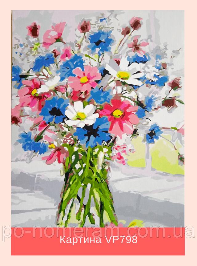 Раскраска антистресс - букет цветов