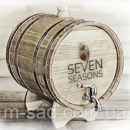 Бочка дубовая (жбан) для напитков Seven Seasons™, 80 литров, Пластик, фото 2