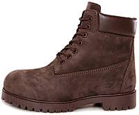 Мужские зимние ботинки Timberland 6-Inch Premium Winter Boots Brown зимние  Тимберленд С МЕХОМ коричневые 94f1d056e7e