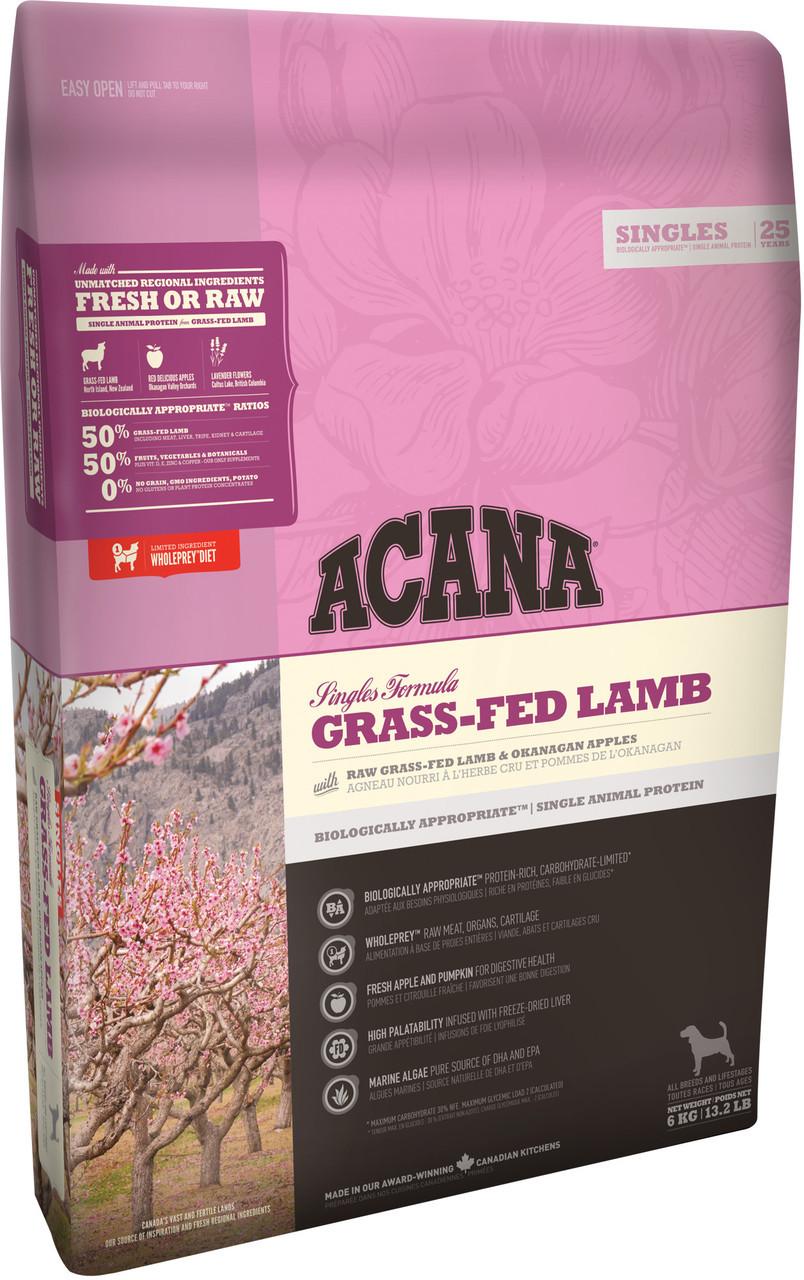 Acana Grass-Fed Lamb ( Акана Грас Фед Ламб) - корм з ягням і яблуками для собак 11,4 кг