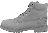 Мужские зимние ботинки Timberland 6-Inch Premium Winter Boots Grey зимние  Тимберленд С МЕХОМ серые 452810fd8fe