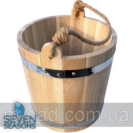 Дубовое ведро для бани Seven Seasons™, 12 литров, фото 2