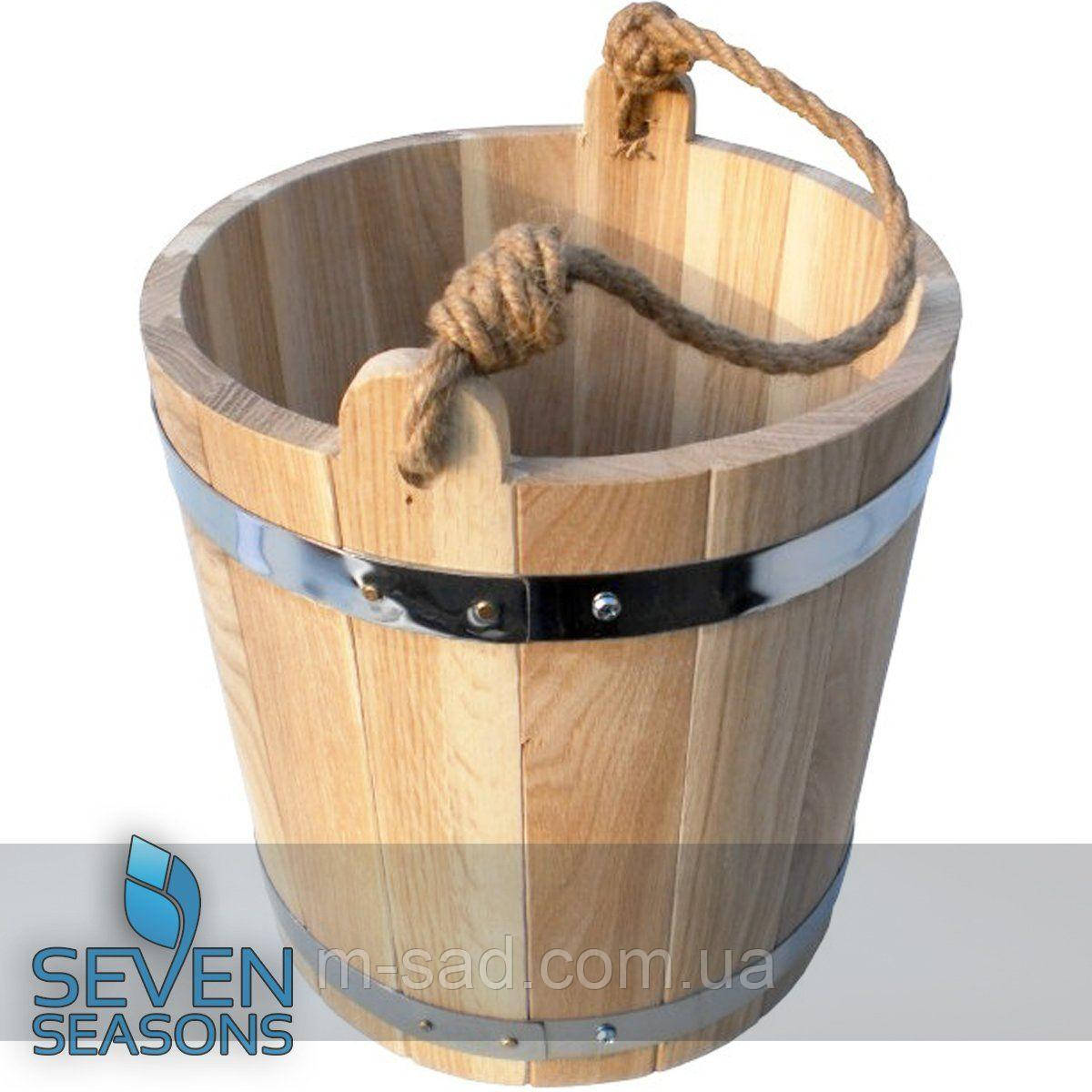 Дубовое ведро для бани Seven Seasons™, 15 литров